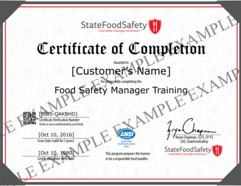 Ảnh của FOOD SAFETY MANAGER CERTIFICATION IN DALLAS-FORT WORTH, TX