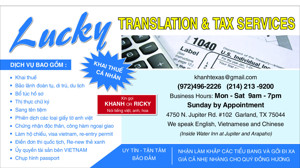 Ảnh của LUCKY TRANSLATION & TAX SERVICES IN GARLAND, TX