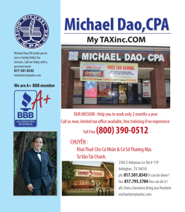 Ảnh của MICHAEL DAO, CPA IN ARLINGTON, TX