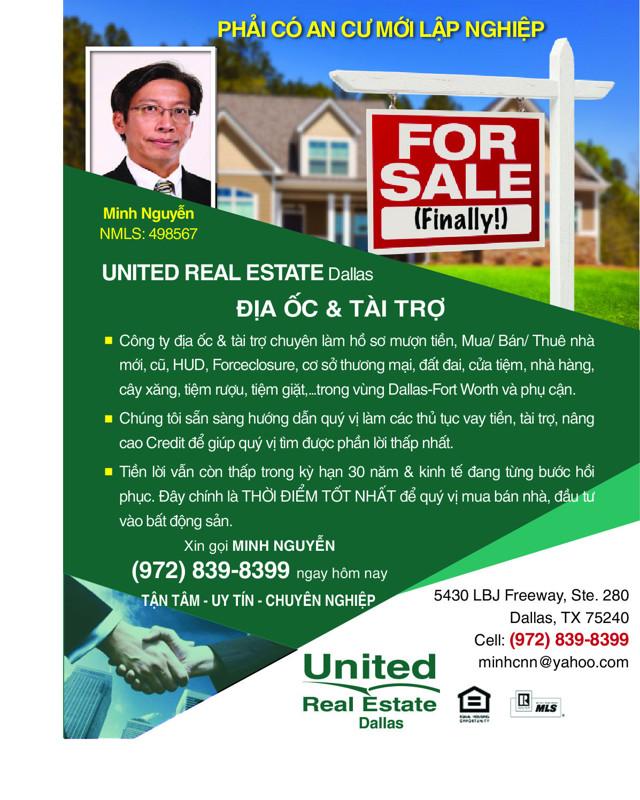 Ảnh của MINH NGUYEN, REALTOR-UNITED REAL ESTATE IN DALLAS, TX 75240