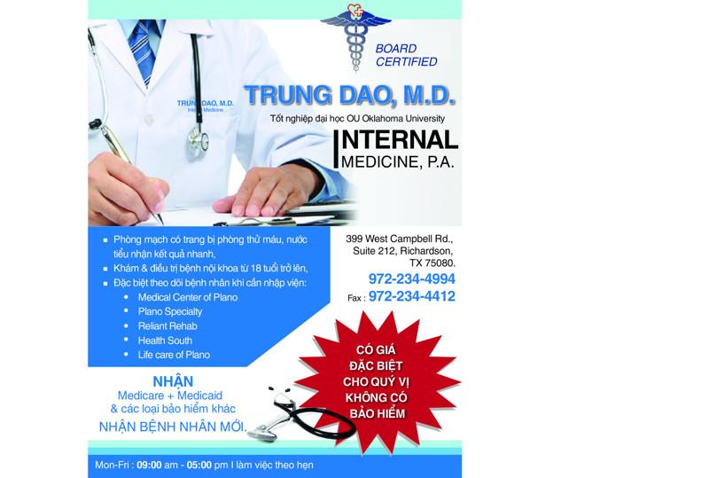 Ảnh của TRUNG DAO, MD.-BÁC SĨ NỘI KHOA Ở RICHARDSON, TX 75080