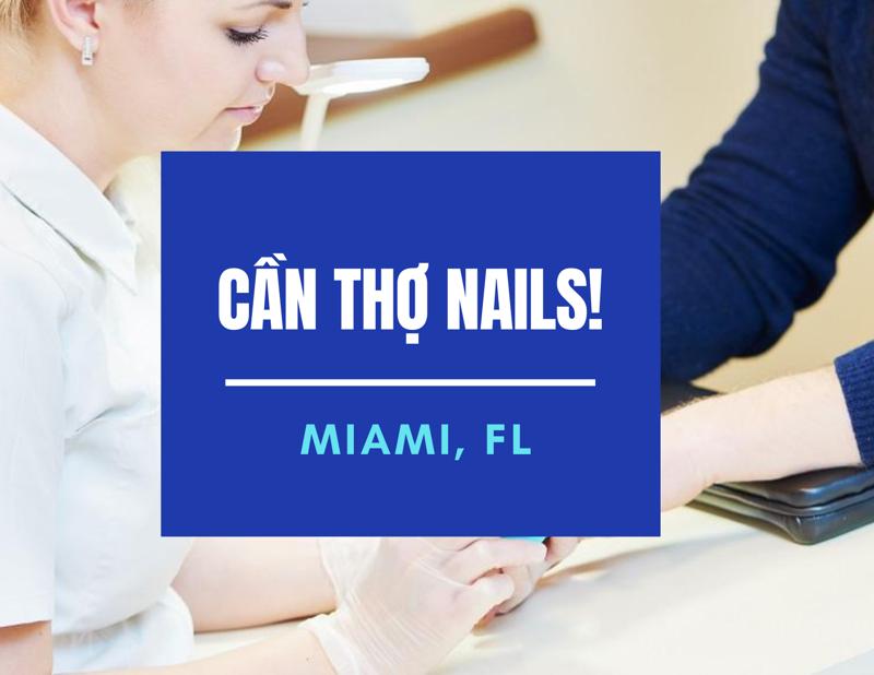 Ảnh của Cần Thợ Nails tại Pink & White Nails Spa in Miami,FL . (BAO LƯƠNG $4,800/ Tháng)
