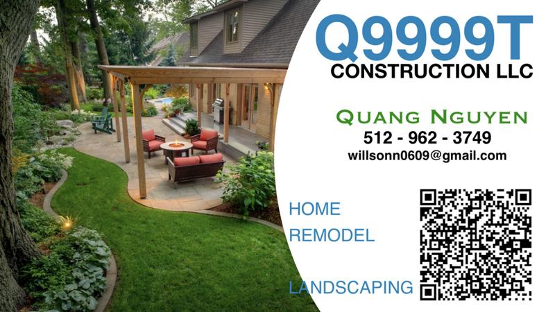 Ảnh của QUANG NGUYEN (512) 962-3749 _ Q9999T CONSTRUCTION LLC.