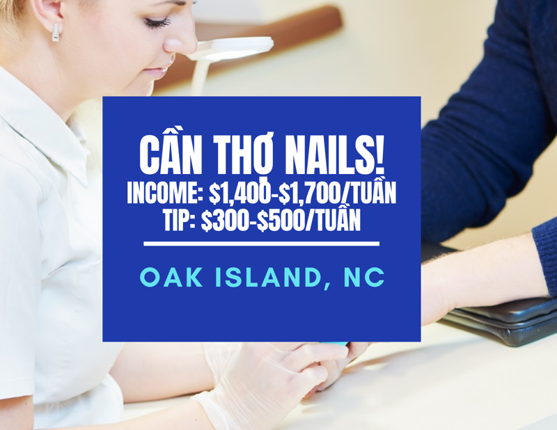 Picture of Cần thợ nails ở tiệm Fashion Nails & Spa in Oak Island, NC 28465