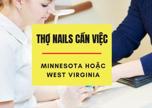 Ảnh của 2 vợ chồng cần việc làm nails ở tiểu bang Minnesota, hoặc West Virginia. Income trên 1400/tuần