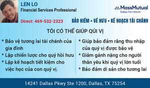 Picture of LEN LO Chuyên Gia Tư Vấn Bảo Hiểm và Tài Chánh Cho Cá Nhân Và Gia Đình Ở Dallas-Fort Worth