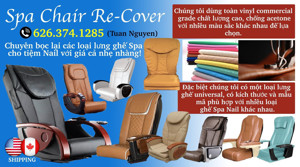 Picture of fACEBOOK: SPA CHAIR RE-COVER ( Chuyên_May_Cover_Ghế_Spa_Pedicure )