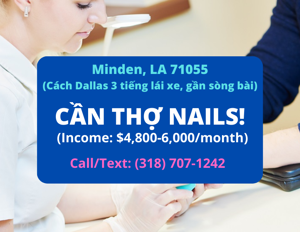 Picture of Cần thợ nails ở Minden, LA 71055. Income/month: $6,000