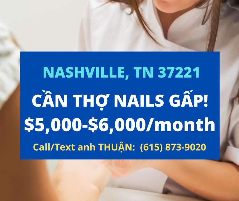 Ảnh của Cần thợ nails ở tiệm MODERN NAILS SALON In Nashville, TN 37211. Income/month: $6,000