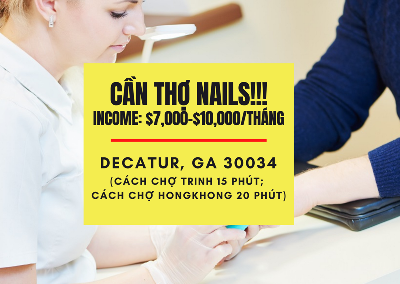 Picture of CẦN THỢ NAILS Ở DECATUR, GA 30034 - CAN THO NAIL IN DECATUR, GA 30034